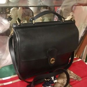 Vintage Coach Willis Leather Cross Body Bag